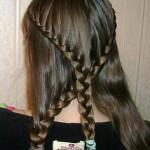 Косоплетение на длинные волосы