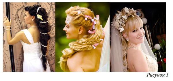 греческие свадебные прически - фото