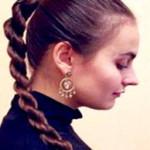 Причёска со жгутами для девочки