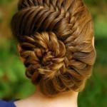 Вечерние причёски с плетением