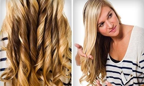 локоны на длинные волосы фото