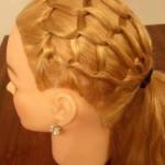 Прическа сеточка из волос