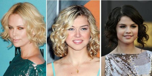 локоны на средние волосы фото